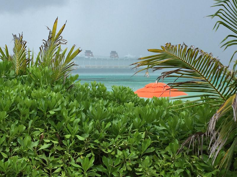 Chuva de verão em Castaway Cay