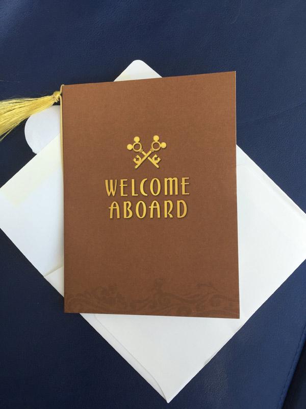 O cartão de boas vindas Concierge