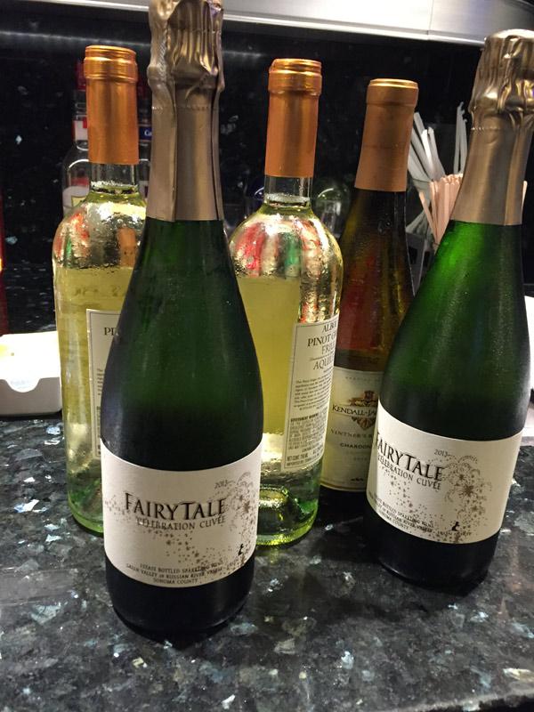 Vinhos e espumantes no Concierge Lounge
