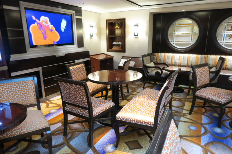 Concierge Lounge no navio Disney Dream