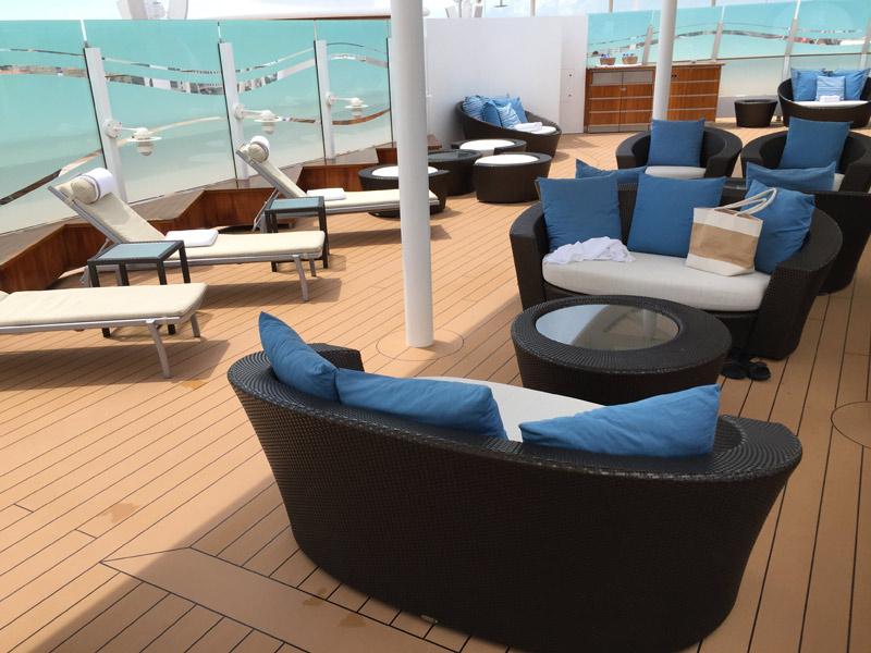 Benefícios da Cabine Concierge nos cruzeiros Disney: O Sun Deck estava vazio!