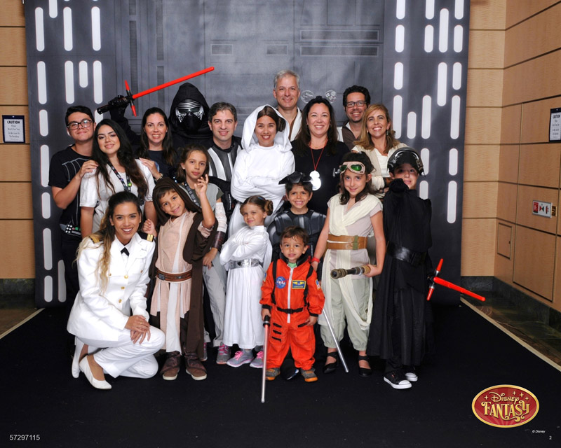 Nosso grupo fantasiado no dia Star Wars