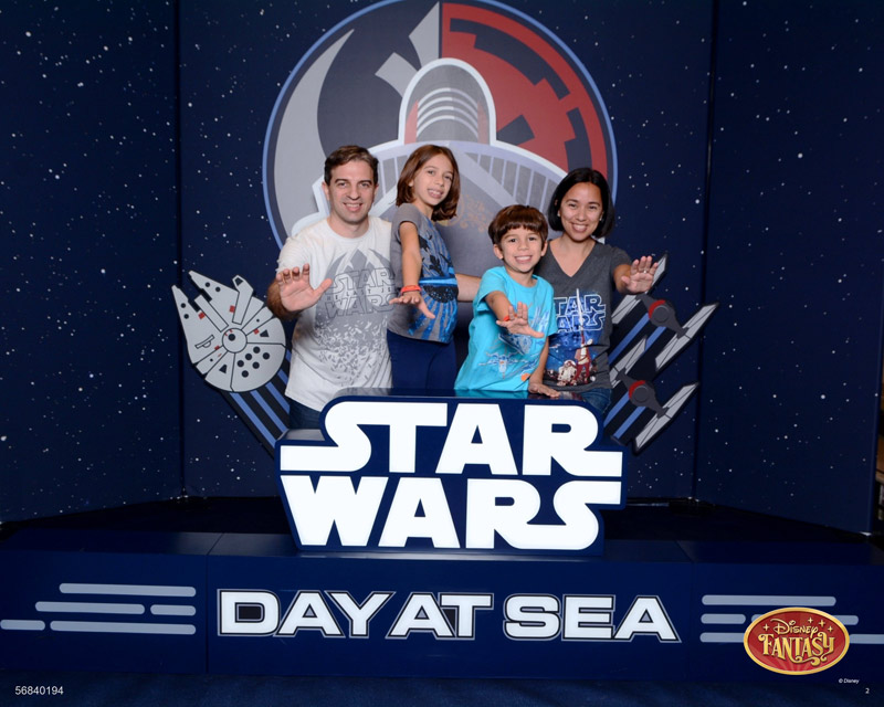 Embarcando no cruzeiro com dia Star Wars no Disney Fantasy