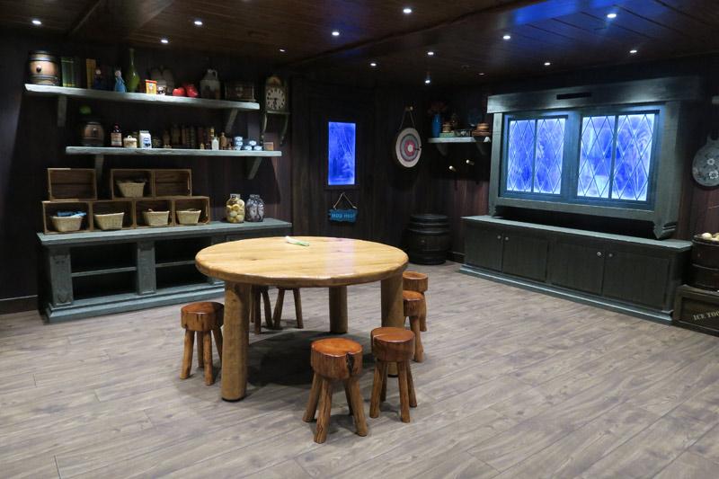 O Oceaneer Club do Disney Wonder tem uma área Frozen