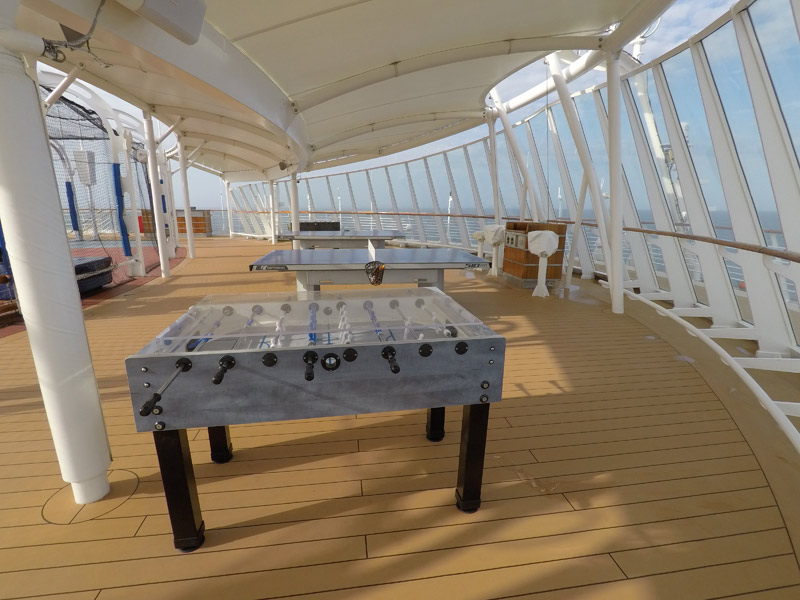 Sports deck do navio Disney Wonder
