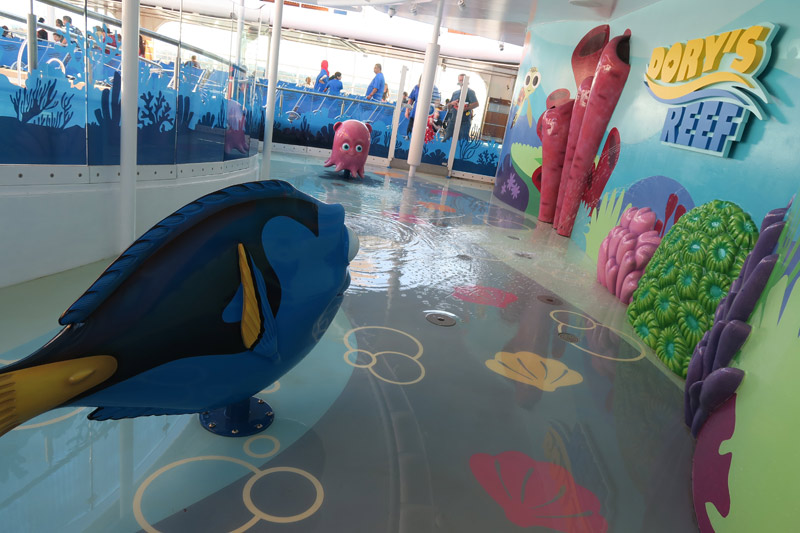 Dory's Reef é a área splash do Disney Wonder
