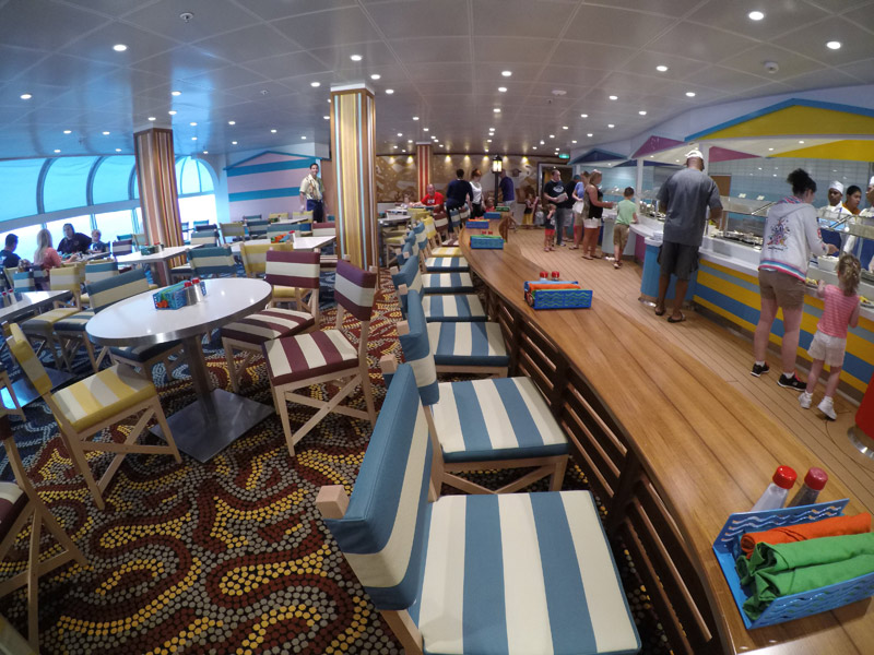 O restaurante Cabanas é o buffet dos cruzeiros Disney