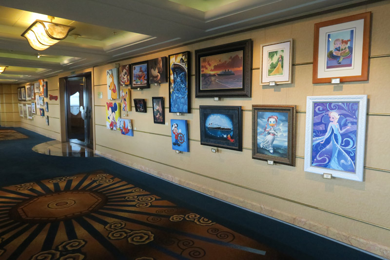 Vista Gallery, a galeria de arte do navio Disney Wonder