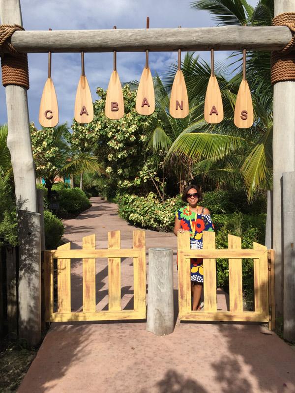 Entrada da área de Cabanas em Castaway Cay
