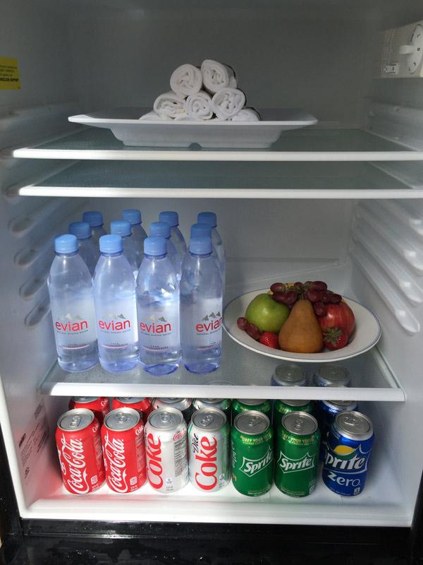 A geladeira já estocada