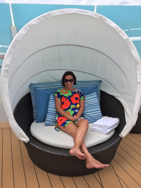 Minha cadeira favorita no Sun Deck!