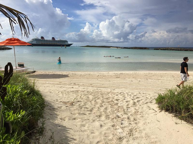 A praia privativa da Cabana em Castaway Cay