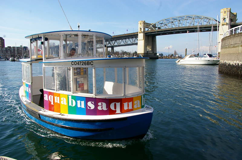O Aquabus, táxi aquático em Vancouver. Foto: Mirella Mathiesen