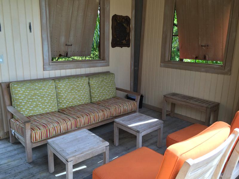 Outra vista da sala de estar da Cabana