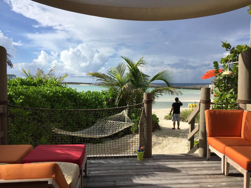 Vista da Cabana número 10 em Castaway Cay